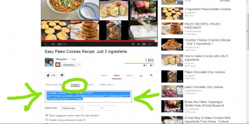 find embed code to share youtube videos