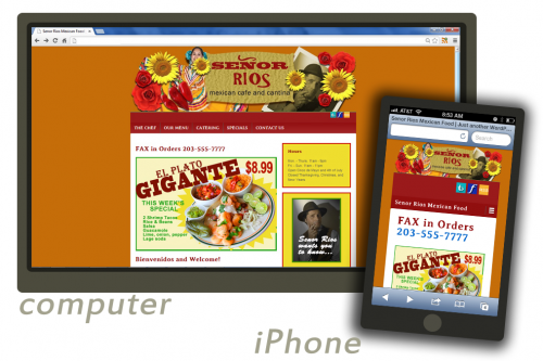 Responsive Website Design for compute and smart phones