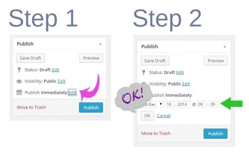 2 steps to schedule blog posts