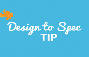 design to spec website tip