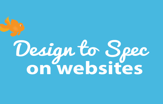 design to spec on webistes